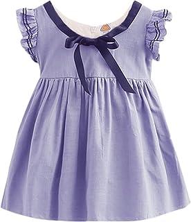 Girls Summer Sundress Vintage Sleeveless Dress
