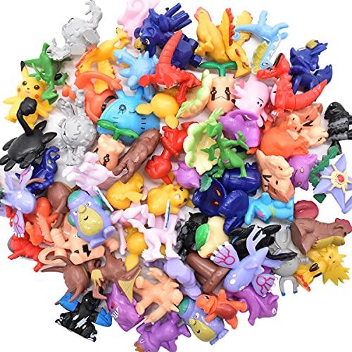 Miotlsy Figuras,Mini Figuras de plástico tamaño pequeño Regalo,La Figura de Incluye a, Charmander, Squirtle, niños(72 Piezas)