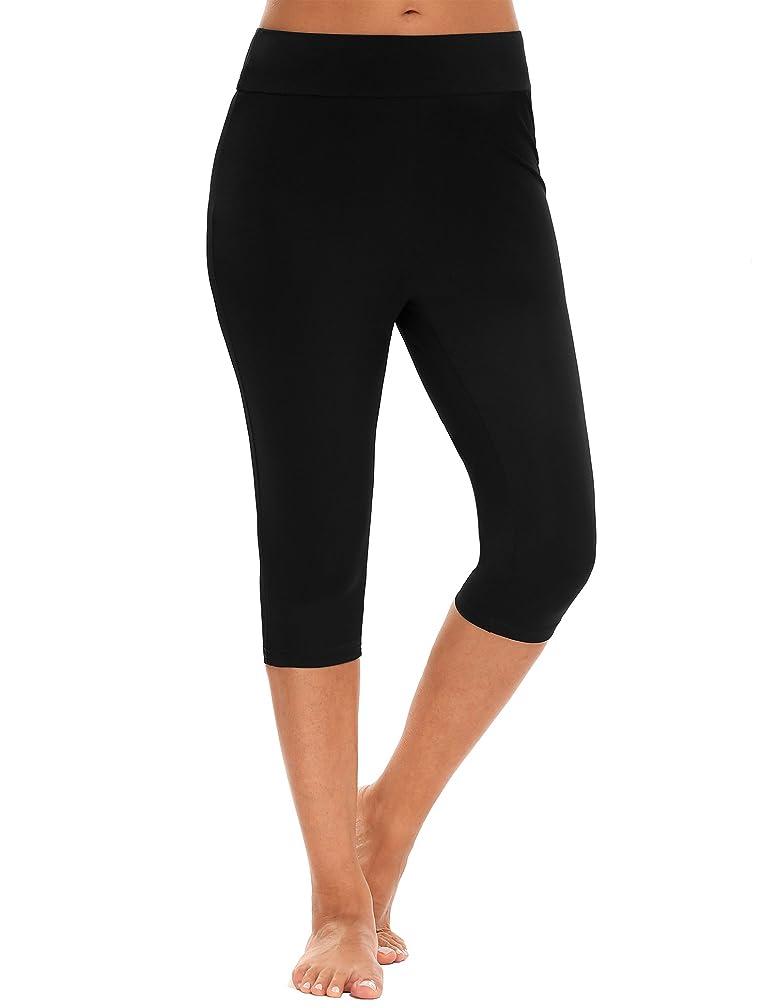 Zeagoo Women's Swimwear Bottoms Swim Surfing Capris Pants UV Protection Leggings Tankini Shorts