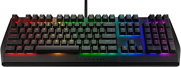 Alienware Low-Profile RGB Gaming Keyboard AW410K: Alienfx Per Key RGB LED - Cherry MX Brown Switches