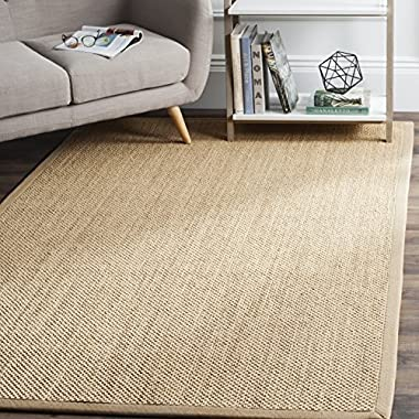Safavieh Natural Fiber Collection NF141B Tiger Paw Weave Maize and Linen Sisal Area Rug (9' x 12')