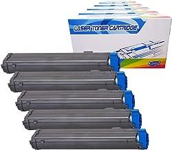 Inktoneram Compatible Toner Cartridges Replacement for Okidata B4600 / B4550 / B4400 /B4500 B4600n B4500n B4550n B4400n 43502301 (Black, 5-Pack)