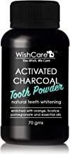 WishCare Coconut Shell Activated Charcoal Tooth Powder | 100% Natural Teeth Whitening | 70 Grams | Enamel Safe Teeth Whitener | Minty Fresh