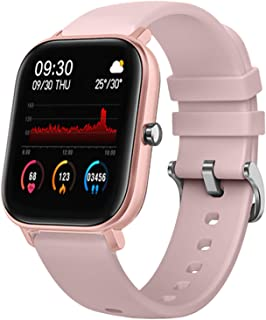 LIGE Smart Watch with Heart Rate Blood Pressure Tracking, Sleep Monitoring IP67 Waterproof Pink FitnessTracker Compatible ...