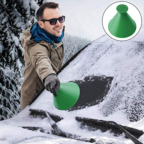 Rund Eiskratzer Auto, Schneeschaufel Eiskratzer Hirundo Magischer Eiskratzer, Eisschaber Auto Reinigung Schneeschaufel Werkzeug Eiskratzen Ice Scraper Für Auto Windschutzscheibe