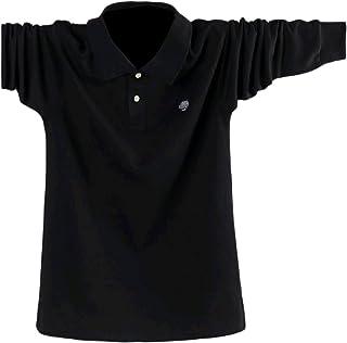 قميص بولو رجالي من SportsXX بياقة أنيقة وبأكمام طويلة مناسب لشكل الجسم ومقاس كبير