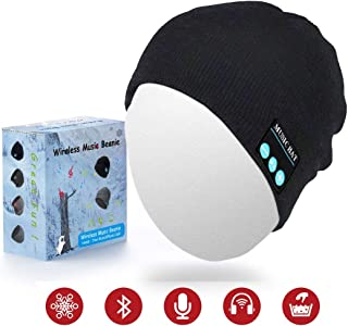 Sunnywoo Bluetooth Beanie Hat, Wireless Smart Headphone Premium Knit Cap with Speaker & Mic, Unisex Headset Musical Cap for Outdoor Sports