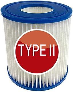 SYANO Bestway 58094 - Cartuchos de filtro para piscina, tamaño II, filtro de hidromasaje, filtro de esponja tipo 2, reutilizables y lavables (2 unidades)