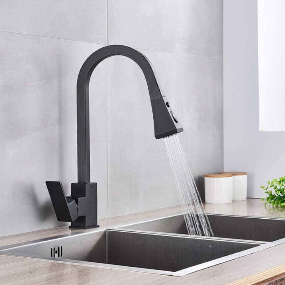 Kitchen Tap Deck Mount Max 84% OFF Matte Crane 100% quality warranty Pul Sink Black Faucet