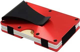 Metal Minimalist Wallet for men with Money Clip - Slim Wallet Credit Card Holder RFID Blocking, Aluminum