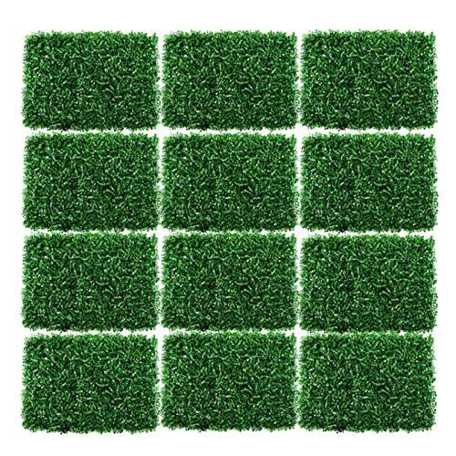 TOYS 12 Stück Künstliche Efeu Künstliche Hecke Hängepflanzen Künstliche Pflanze Rasen Wand, Vertikaler Garten Als Wandbegrünung, Sichtschutz Am Zaun Oder Balkon, Pflanzenbild
