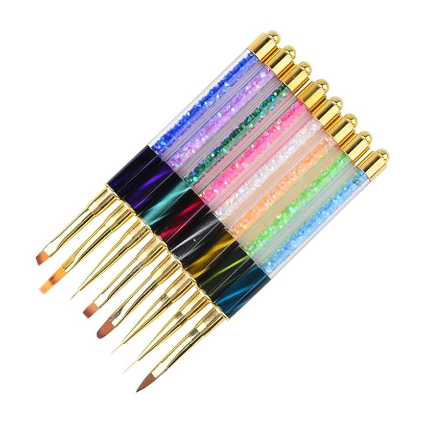 バリア著名な初期Frcolor ネイル筆 ネールブラシセット ネイルアートブラシ マニキュアツール UV ジェルネイルブラシ 8本セット(ランダム色)