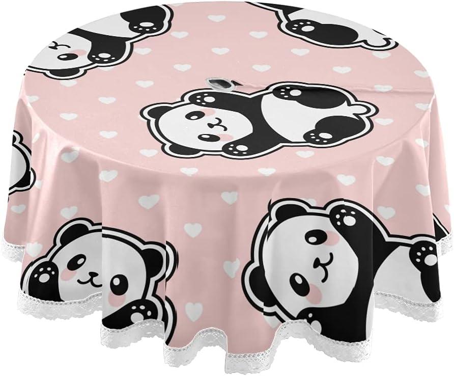 xigua Cute Cartoon Panda Round Max 41% OFF Resistant Cloth Heat Table Under blast sales