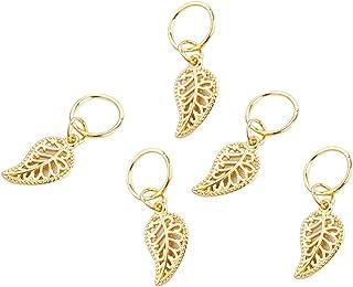 Padaleks Women Hip-Hop Braid Hand Cross Shell Star Ring Hair Clips Accessories 5PC Set Headbands Hairpins for Girls