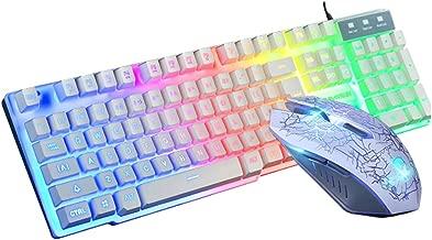 Nicknocks Gaming Keyboard 104 Keys Mechanical Fell Wired USB Keyboards RGB LED Backlit for Overwatch LOL
