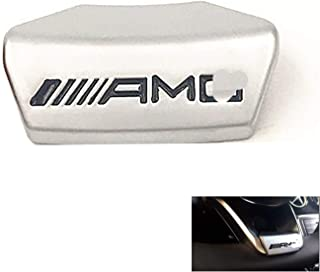 Steering Wheel AMG Emblem, Metal AMG Decoration Badge Decal Logo Suit for Bens Models 2016-2017 and A B C E GLA GLA GLC GLE GLS W213 W205 x253 (Silver-D Type)