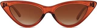 SOJOS Cateye Sunglasses For Women Fashion Retro Vintage Narrow Clout Goggles Metal Frame