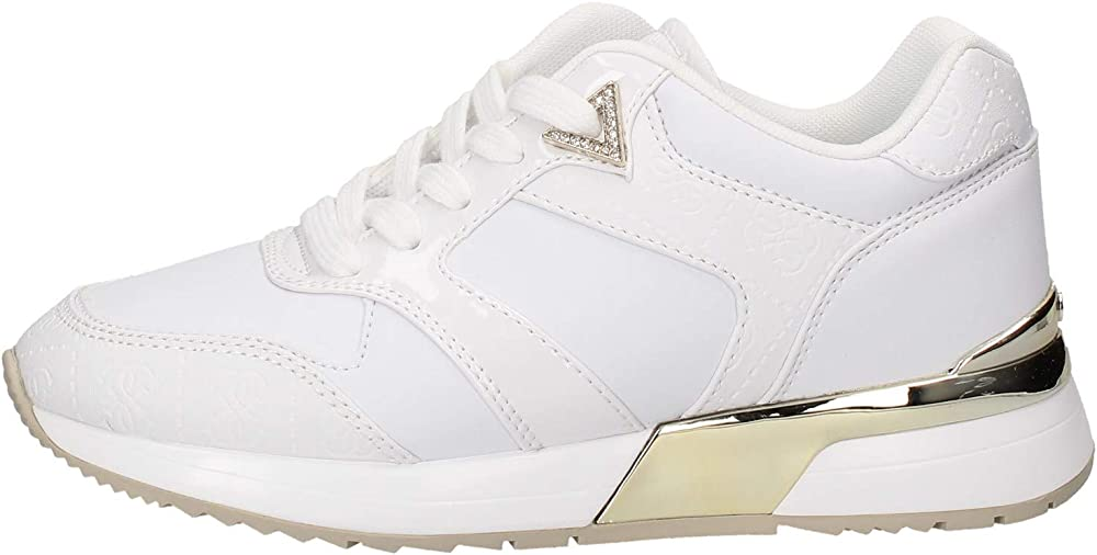 Guess motiv/active lady/leather like, scarpe con lacci per donna,sneakers in pelle FL7MOVELL12