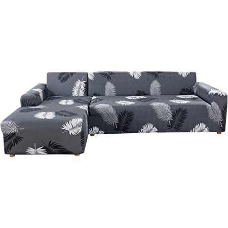 1//2//4 Seater Slipcover Stretch Elastic Sofa Covers Long Couch Cover Protector UK