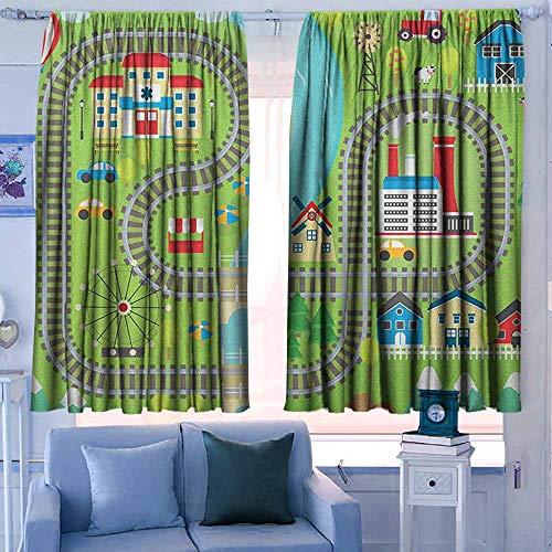 Lovii gordijnen voor slaapkamer Isolerende kamer Darkening Blackout Drapes Kente Patroon Horizontale Grenzen van het Primitieve Land Zigzags Folklorische Ornamenten Tegel Multi kleuren