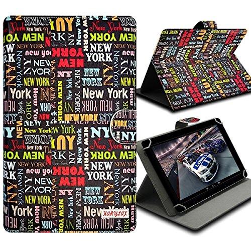 Seluxion-Funda universal con tapa y soporte, diseño de texto 'New york', para tablet Lenovo Tab Tab2 a 8-50, S8, Yoga Tab 2 y 3 8,0