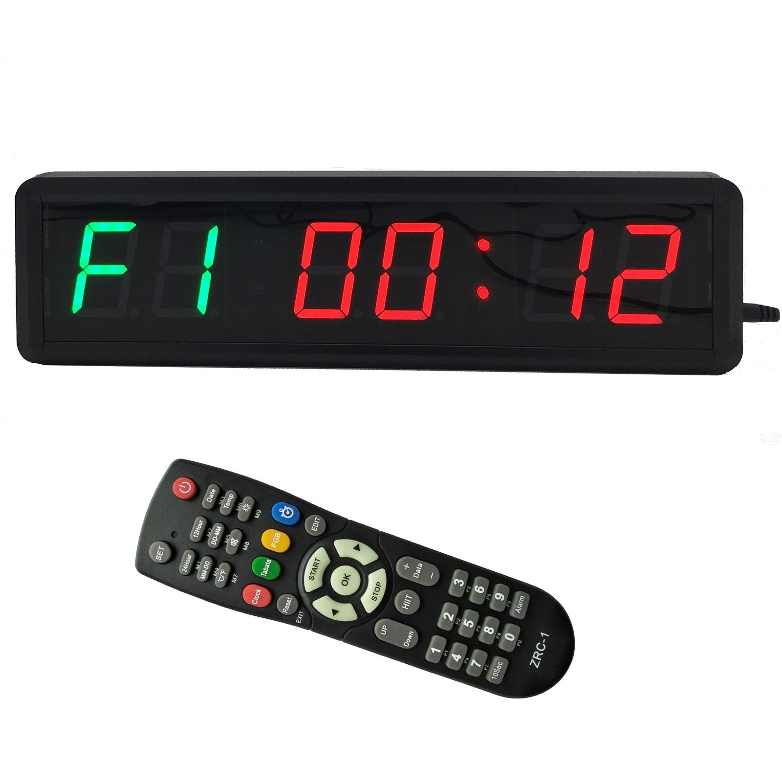 fitness timers amazon combtbsign programmable led interval wall timer gym home fitness timer with wireless remote count up