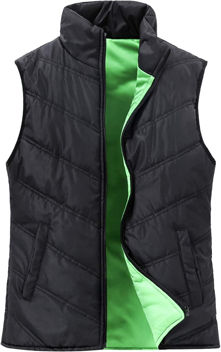 SUNDAY pink Women Quilted Puffer Vest Outdoor Padded Sleeveless Jacket Gilet