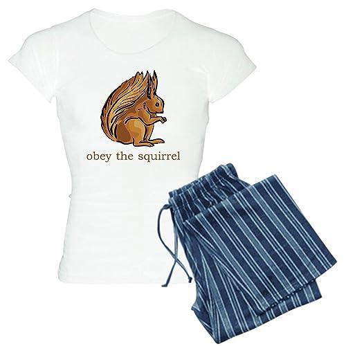 841ad82c01 CafePress - Obey The Squirrel Women s Light Pajamas - Womens Novelty Cotton Pajama  Set