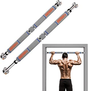 ONETWOFIT Pull Up Bar Doorway Chin Up Bar Household Horizontal Bar Home Gym Exercise Fitness (25.6 to 33.5 Inches Adjustable Length)