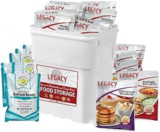 Legacy Emergency Food Ultimate Sample Pack - Survival Supply - 183 Large Servings: 34 Lbs - Breakfast, Lunch, Dinner, Side...