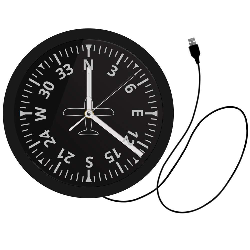 Altim/ètre Mur Lumi/ère Militaire Altim/ètre Suivi LED Horloge Murale Avion Altim/ètre Instrument Style Horloge Cadeau Pilote