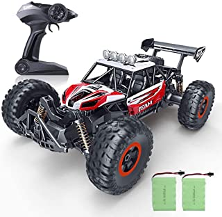 GotechoD Remote Control Car Boat for Boys, Offroad RC Car 4x4 RC Truck Waterproof Remote Control Truck Stunt Car Radio Controlled Vehicle RC Electric Cars for Boys Toys 5-16 Years Old Kids Gift Red