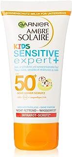Garnier Zonnecrème Kids, zonnebrandmelk voor kinderen, extra waterbestendig, SPF 50+, Ambre Solaire, 1 stuk, 50 ml
