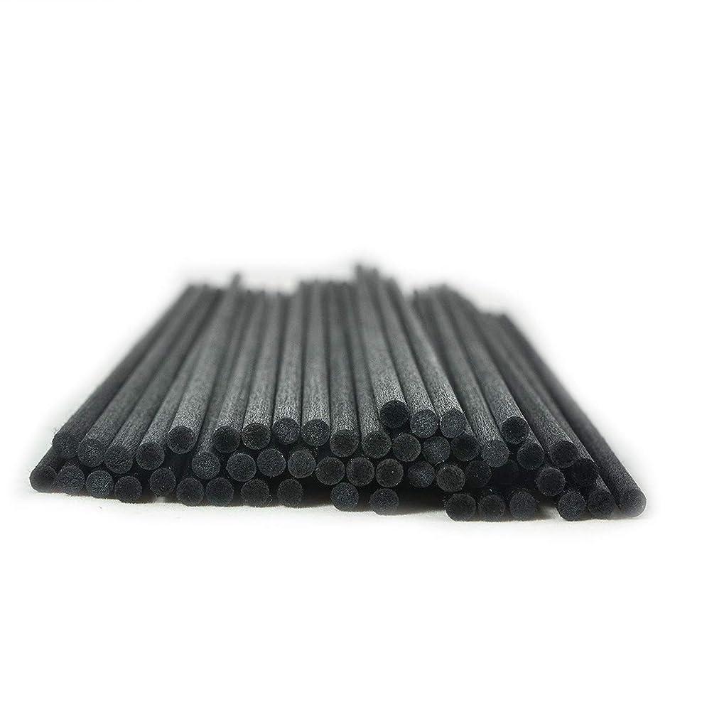 寺院馬鹿マート50本入アロマファイバーディフューザー交換用スティック(25cm*4mm,黒)