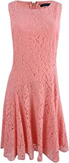 Womens Lace Fit & Flare Party Dress