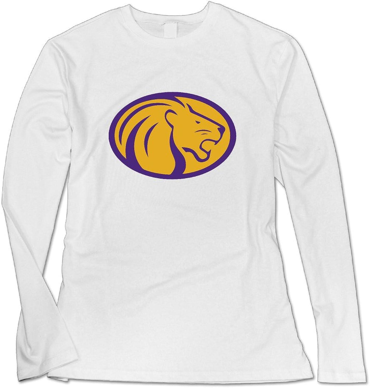 FKKTee Women's North Alabama Lions Logo Long Sleeve T ShirtWhite