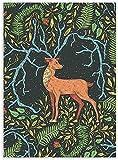 YYTTLL Posters, póster de Unicornio, Ciervo, Lobo, León de Pegaso, Arte de Pared, Animales Abstractos, Pinturas en Lienzo, Plantas Retro, Impresiones, decoración Moderna de habitación Vintage 40X60Cm