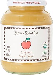 オーガニック アップルソース 瓶タイプ (有機 化学調味料無添加 砂糖不使用 100%天然 ブラウンシュガーファースト)