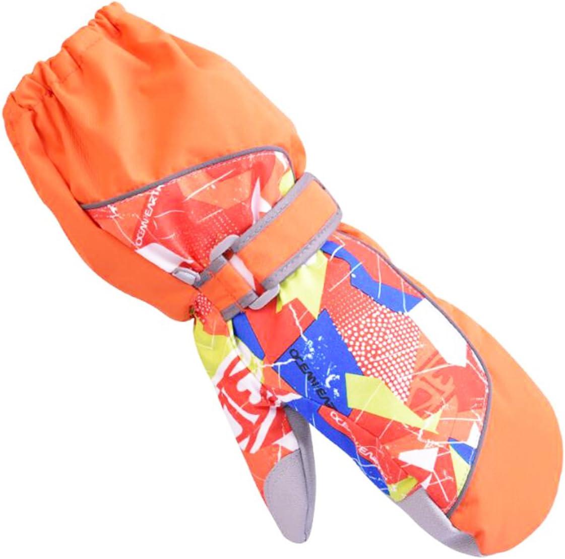 YAPJEB Kids Ski Mitten Waterproof Winter Gloves Mittens for Snowboarding Skating