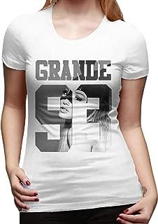 Women's Short-Sleeved T-Shirt Ariana Singer Grande Novel and Unique Design White