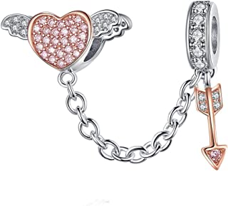 Key to My Heart Dangle Charm 925 Sterling Silver Lock & Key Beads fit for Fashion Charms Bracelet & Necklace