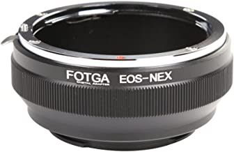 FocusFoto FOTGA Adapter Ring for Canon EOS EF EF-S Lens to Sony E-Mount Mirrorless Camera NEX-5R 5T 6 NEX-7 a7 a7S a7R a7II a7SII a7RII a6500 a6300 a6000 a5100 a5000 a3500 NEX-FS700 VG30 VG900 PXW-FS7