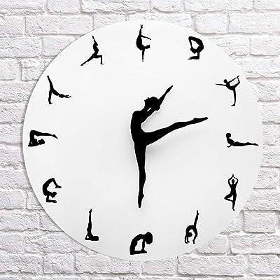 PHM Modern Silent Metal Wall Clock Will Dance Watch WCLT Ballet Dance Classroom Decoration Simple Wall