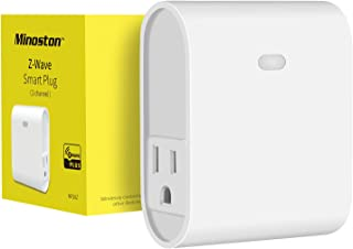 Z-Wave Plug Outlet Dual On/Off Switch Outlet, Built in Repeater, Work with Smart Things, Wink, Z-Wave hub Require, White(MP20Z)