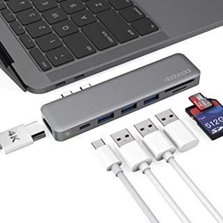 dodocool Hub USB 7 in 1 Mac Adattatore, Hub Tipo C con Thunderbolt 3 PD 100W, 4K HDMI, 3 Porte USB 3.0, Lettore schede SD/...