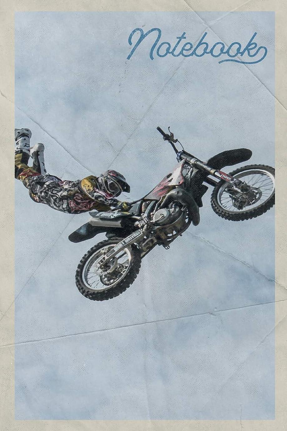祝う仲間、同僚土砂降りNotebook: Freestyle Motocross Riders Useful Composition Book Journal Diary for Men, Women, Teen & Kids Vintage Retro Design for Dirt Bike Racing Fans