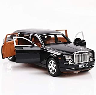 Generic Alloy Car Model 1:24 Car Model For Rolls-Royce Phantom Car Model Boy Toy Diecast Sound Light Toy Six Open Door Toy...