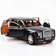 Generic Alloy Car Model 1:24 Car Model For Rolls-Royce Phantom Car Model Boy Toy Diecast Sound Light Toy Six Open Door Toy Car Model Black