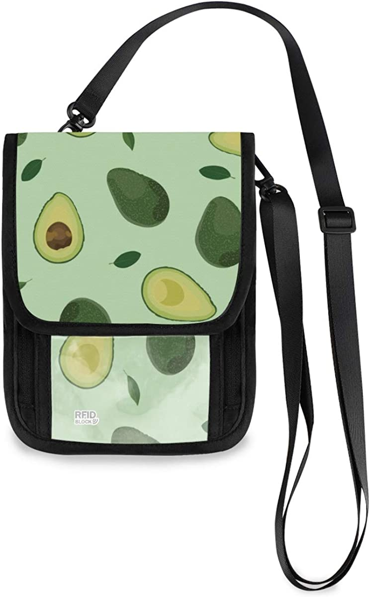 VIKKO Avocado Leaves Fruit Travel Neck Wallet With Max 47% OFF Blockin Sales results No. 1 RFID
