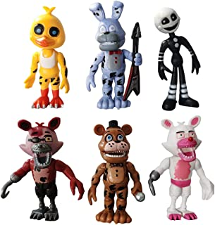 6 pcs Five Nights at Freddy's Cake Toppers,Kids Baby Shower Birthday Party Cake Decoration
